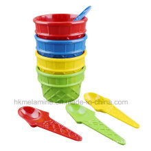 Melamine Ice Cream Bowl Set with Spoon (TZ4250)