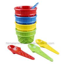 Набор для мороженого из меламина с ложкой (TZ4250)