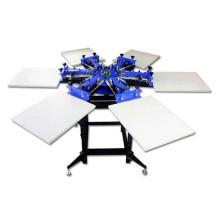 TM-R6 6-Color manuelle Rotary T Shirt Textile Siebdruckmaschine