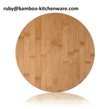 LFGB FDA Compressed Round Vegetable and Sushi Display Platter Kitchen Bamboo Wooden counter Board Block