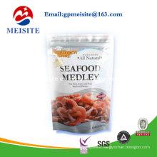 High Quality Doypack Zipper Plastic Sea Food Medley Bag
