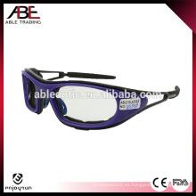 Gafas de sol de encargo baratas del deporte de la alta calidad con la correa elástico