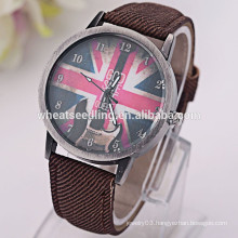 UK flag fabric strap vogue men watch