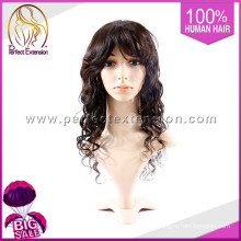 Compre um item 100% cabelo humano cinza peruca de cabelo curto homens