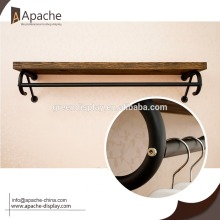 Wood&steel Clothing display fixture