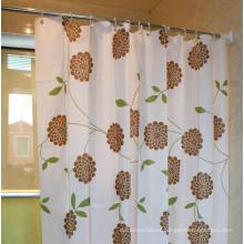 Poliester 100% para el cuarto de baño La cortina de ducha en la floración y el color brillante Nueva tela buena al por mayor del estilo
