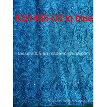 Dernier design africain soluble dans l'eau Laceafrican cordon / Guipure tissu en dentelle pour femmes