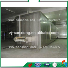 Vegetable and Fruit Tunnel Blast Freezer IQF Machine
