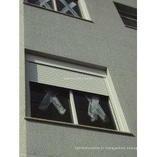 Volets roulants pour fenêtres en aluminium à l'extérieur