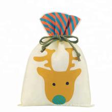 Natal X-mas padrão de veado saco de embalagem tipo cordão