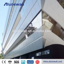 Materiales de revestimiento de paredes de 4 mm. Paneles compuestos de aluminio con 2 m de ancho.