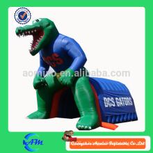 Gigante crocodilo inflável túnel inflável túnel de futebol