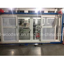 Foshan Woodwin ventana deslizante de aluminio con vidrio personalizado