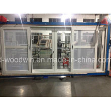 Foshan Woodwin Aluminum Sliding Window with Customized Glass