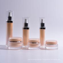 Acrylic Cylinder Lotion Bottles with Jars (EF-C11)