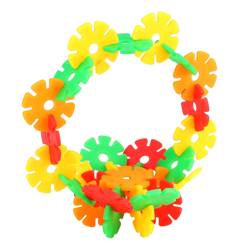 Multicolor Snowflake Building Blocks Toy