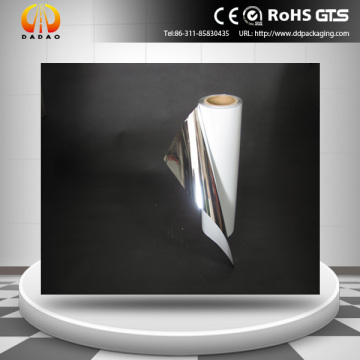 2 mil Polyester argent mat blanc