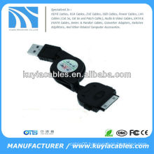 Retractable USB Date sync Charge Cable cord for apple iPhone 4 3GS 3