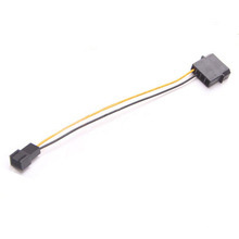 4pin Molex to Fan 3pin Power Cable Adapter