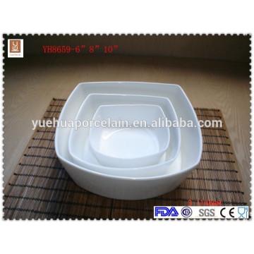 wholesale square ceramic bowl white porcelain bowl set
