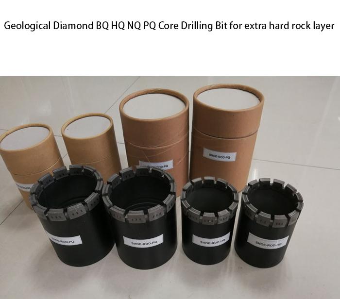 Geological Diamond Bq Hq Nq Pq Core Drill Bit For Hard Rock 2