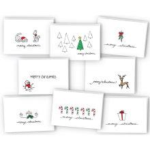 Cartão feito sob encomenda do Feliz Natal do cartão de Natal
