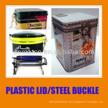 Kunststoffdeckel für Can und PE-Dichtung mit Stahlring Schnalle