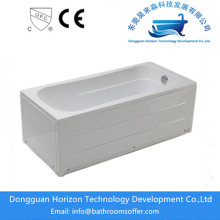 Factory Outlets for Stand Alone Bathtub Acrylic Soaking Skirt pedestal hydraulic tub supply to South Korea Exporter