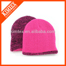 Custom Wholesale Cheap Acrylic Fleece lining Knitted Beanie