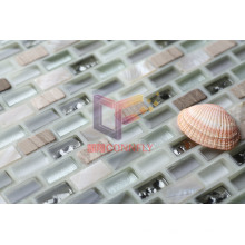Crystal Mix Stone and Shell Wall Mosaic, Glass Mosaic (CFP109)