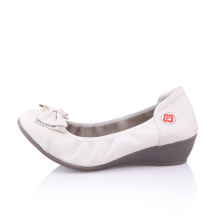 china shoe factory new style ladies leather soles flat open shoes
