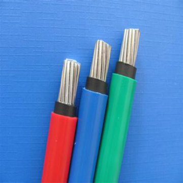 Flat XLPE Insulator PE Sheath Al Wires