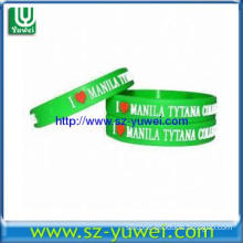 Silicone Bracelets with Embossed Logo, Customized Designs are Accepted