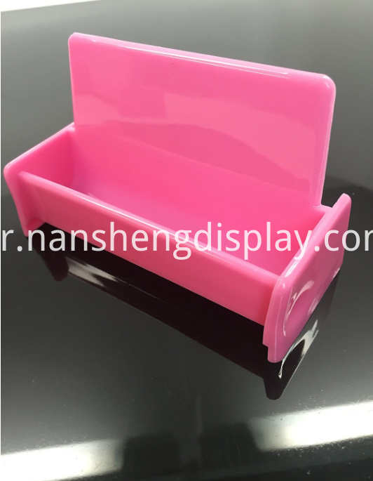 Hot Pink Business Card Holder Display Stand