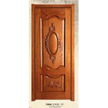 Nuevo diseño de puerta de madera maciza con alta calidad