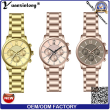 Yxl-115 Fashion Vogue Uhr Chronograph Modern Uhren Custom Markenuhr Edelstahl Man Watch IP Gold vergoldet Sapphire Luxus Geschäftsmann Armbanduhr
