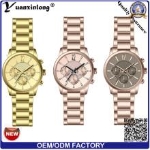 Yxl-115 мода моде часы хронограф современные часы собственного бренда часы из нержавеющей стали мужчины смотреть IP позолоченные Сапфир роскошные бизнесмена наручные часы