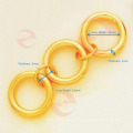 Fábrica profesional de alta calidad de metal de imitación de oro accesorios para bolsa