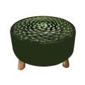 Wood green flower stools