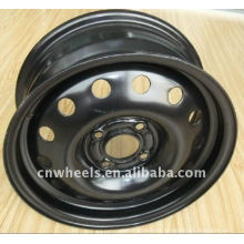 Rodas de aço para o carro, 15X6J, 16X6.5J roda preta