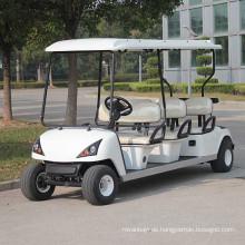Elektro-Sportartikel Golfwagen mit 6 Sitzer Weiß Rot (DG-C6)