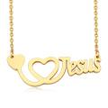 Wholesale Stainless Steel Religion Believers I Love Jesus Pendant Alphabet Letter Necklace