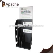 Competitive price plastic bag stationery floor display stand