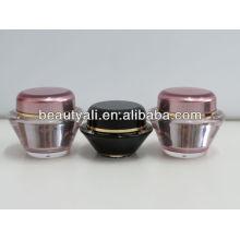 UFO Shape Acrylic Crema Cosméticos Jar 15ml 30ml 50ml