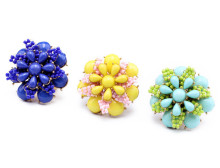 superstar accessories jewelry,Flower Shape Ring,flower pearl gold ring designs