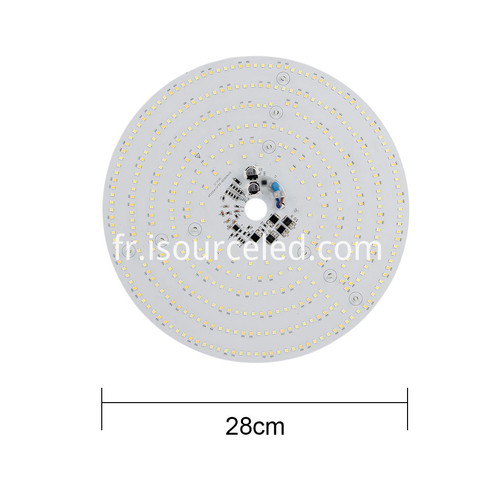 The width of the colorable 40W light source module
