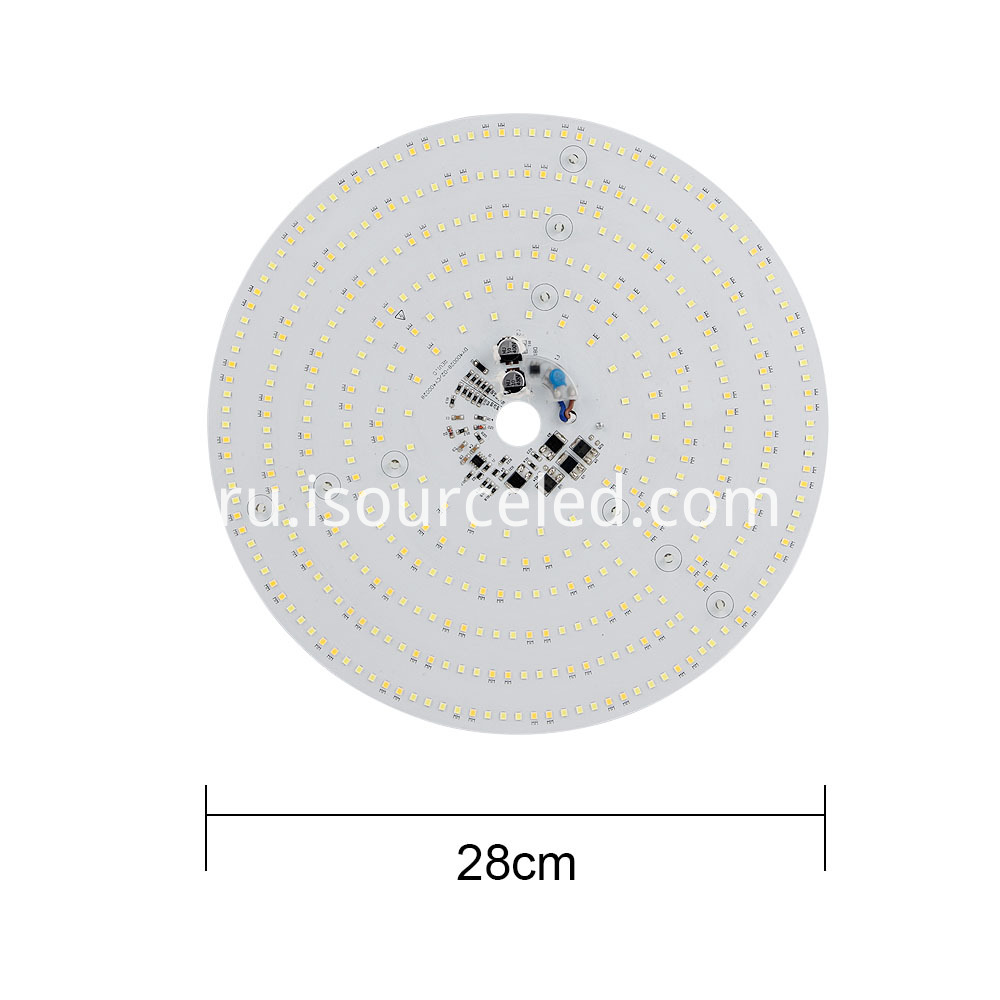The width of the Colorable smd 2835 Round 40W AC LED Module