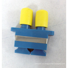 Sc-FC Adaptador de fibra óptica híbrida de plástico dúplex