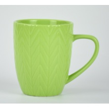 Colorful handle travel tea ceramic mug set