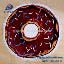 Super Soft 100% Cotton Roundie Circle Beach Blanket Donut Round Beach Towel